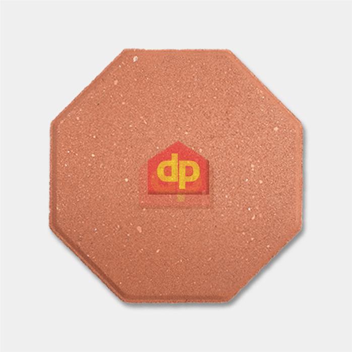 Gạch block tự chèn bát giác màu đỏ