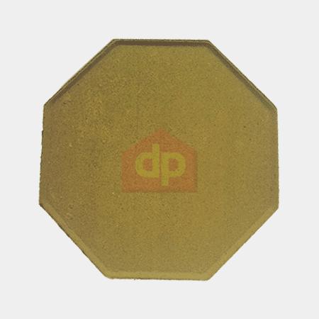 Gạch block tự chèn bát giác màu vàng